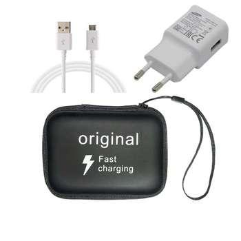 شارژر دیواری مدل EP-TA20EWE به همراه کابل Micro USB و هندزفری مدلj5 وکیف حمل