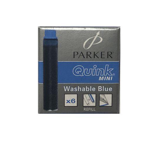 جوهر خودنویس پارکر مدل Quink Mini بسته 6 عددی
