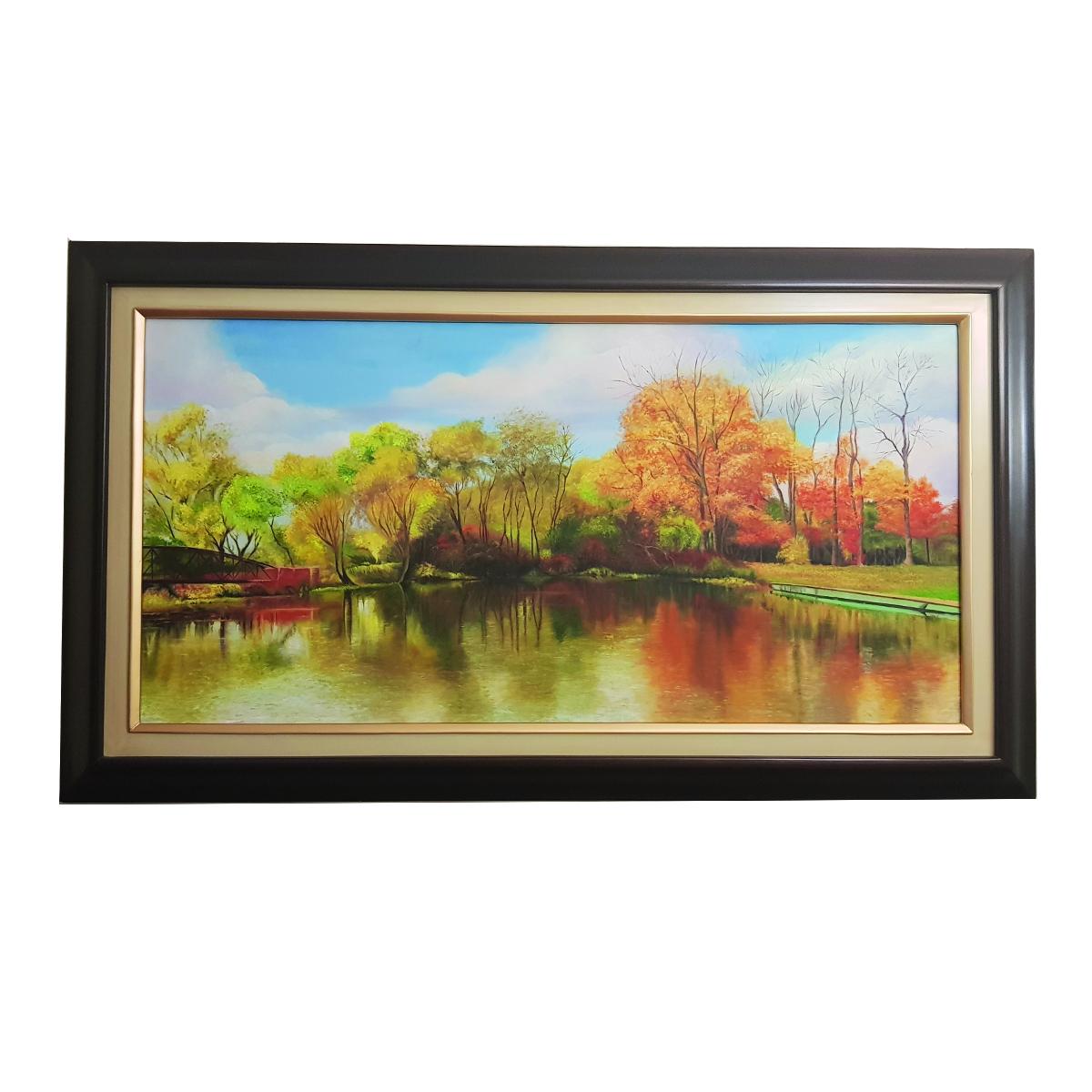 تابلو نقاشی رنگ روغن طرح پاییز
