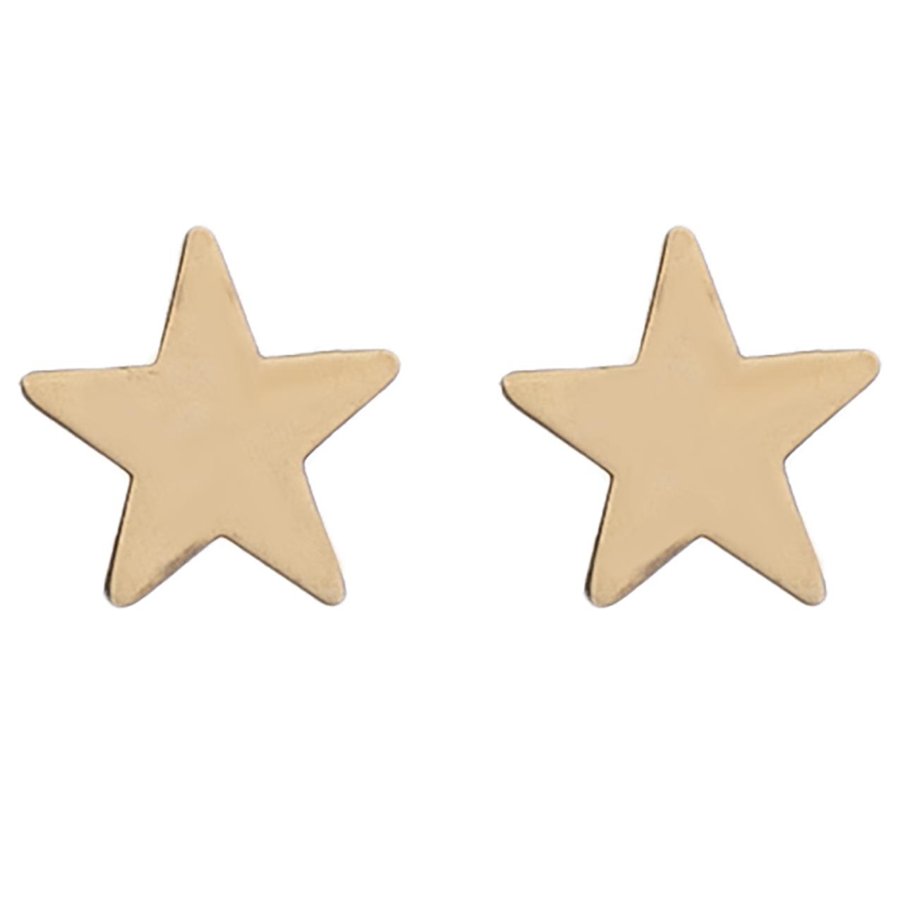 گوشواره طلا 18 عیار طرح ستاره مدل 318