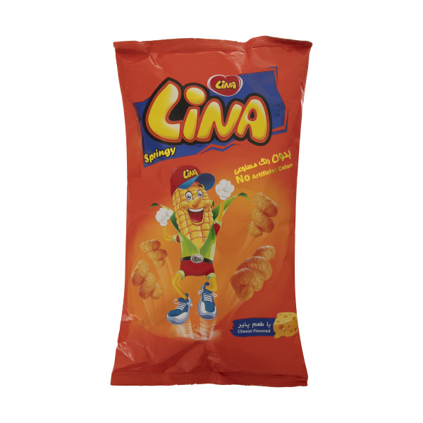 پفک فنري لينا با طعم پنیر - 140 گرم