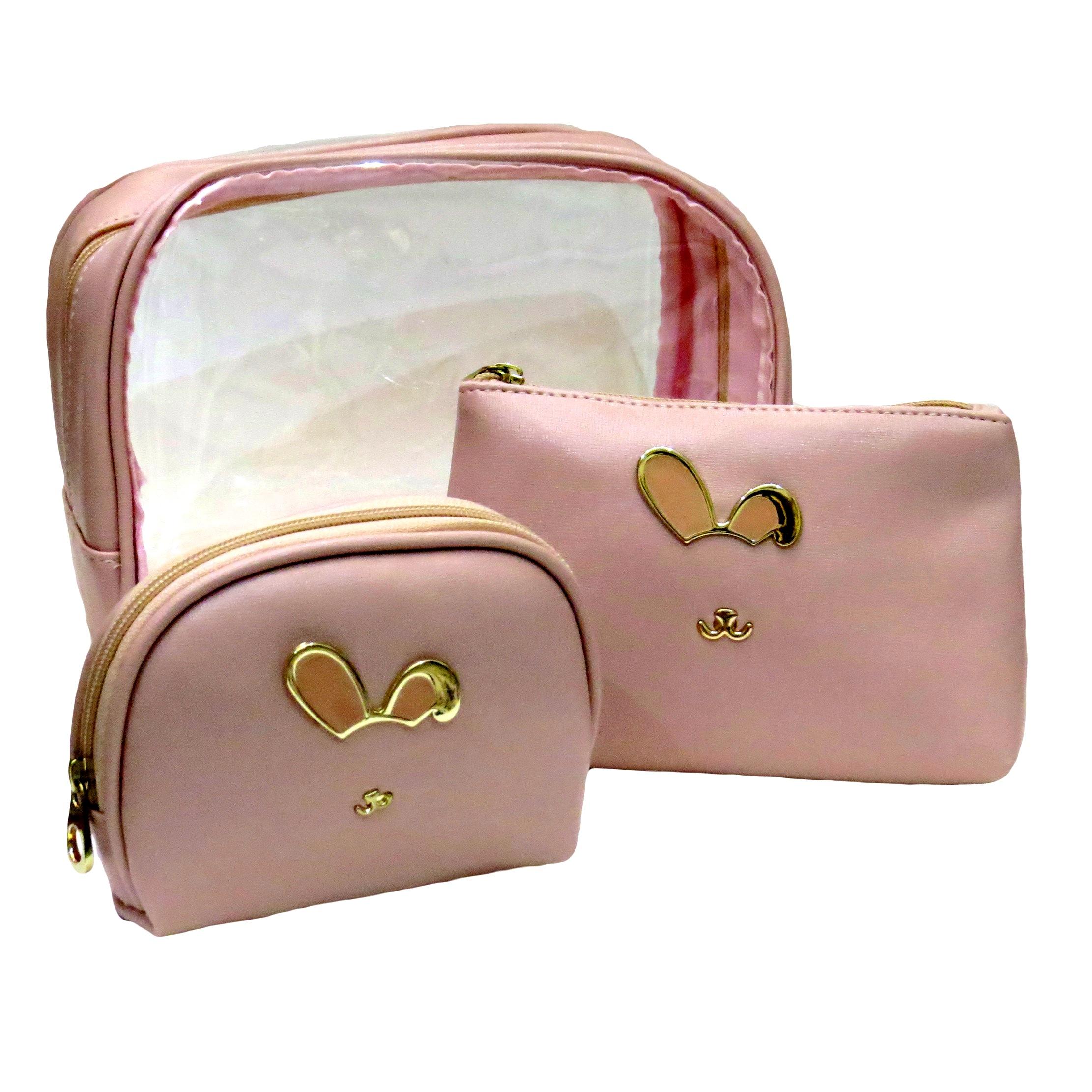 قیمت کیف لوازم آرایشی زنانه کد Ks_0120 مجموعه سه عددی