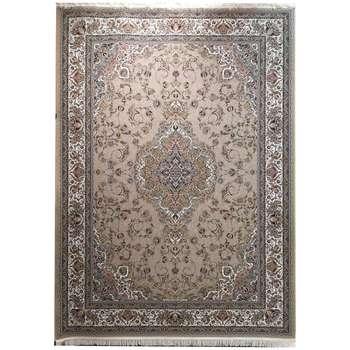 فرش ماشینی زمرد مشهد طرح 45001 رنگ زمینه نسکافه ای |