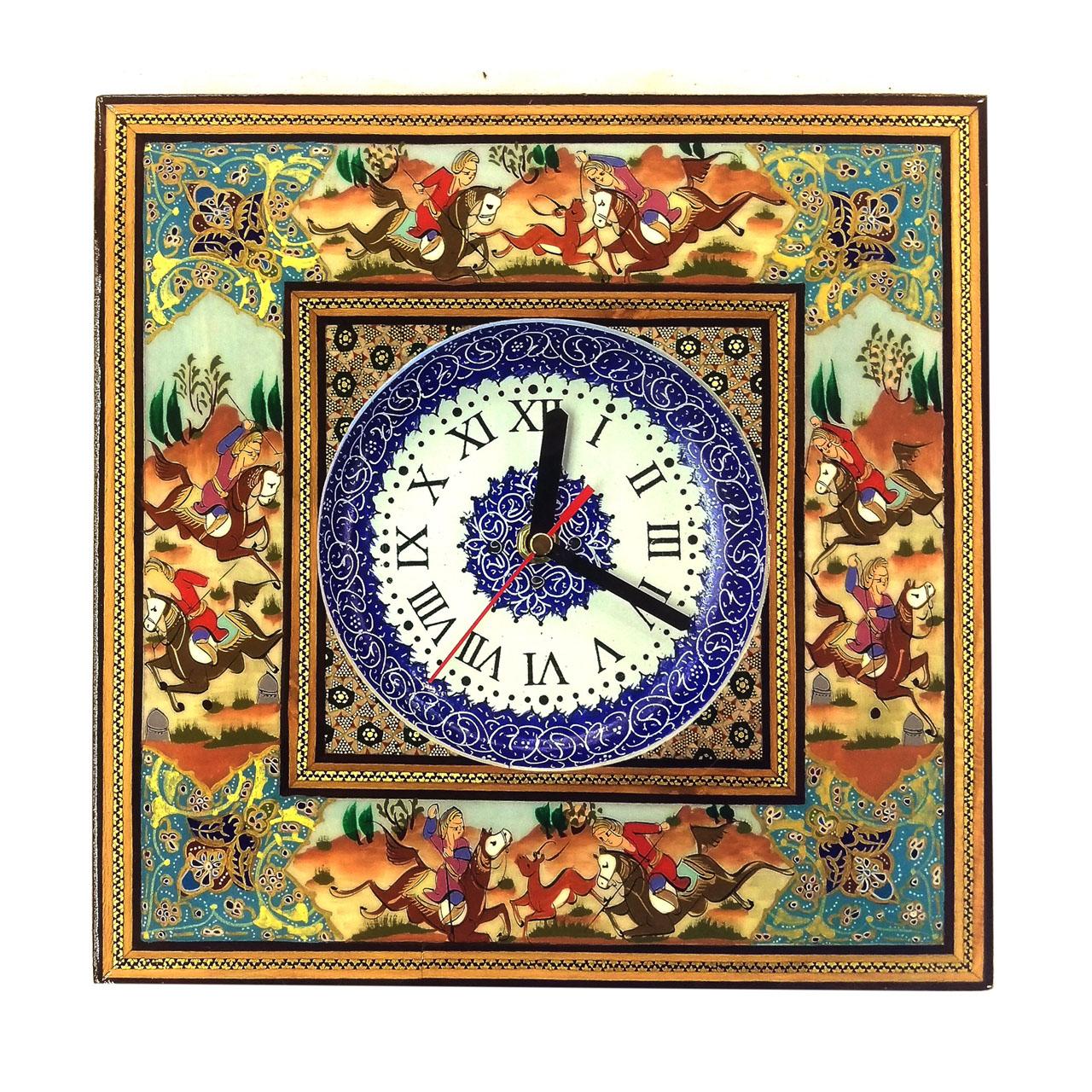 خرید                      ساعت خاتم لوح هنر طرح بازی چوگان کد ۱۰۸۲