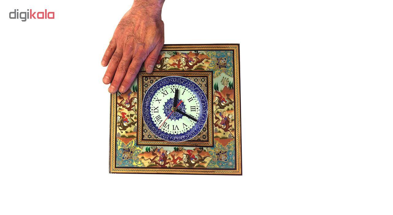 خرید                      ساعت خاتم لوح هنر طرح بازی چوگان کد 1082