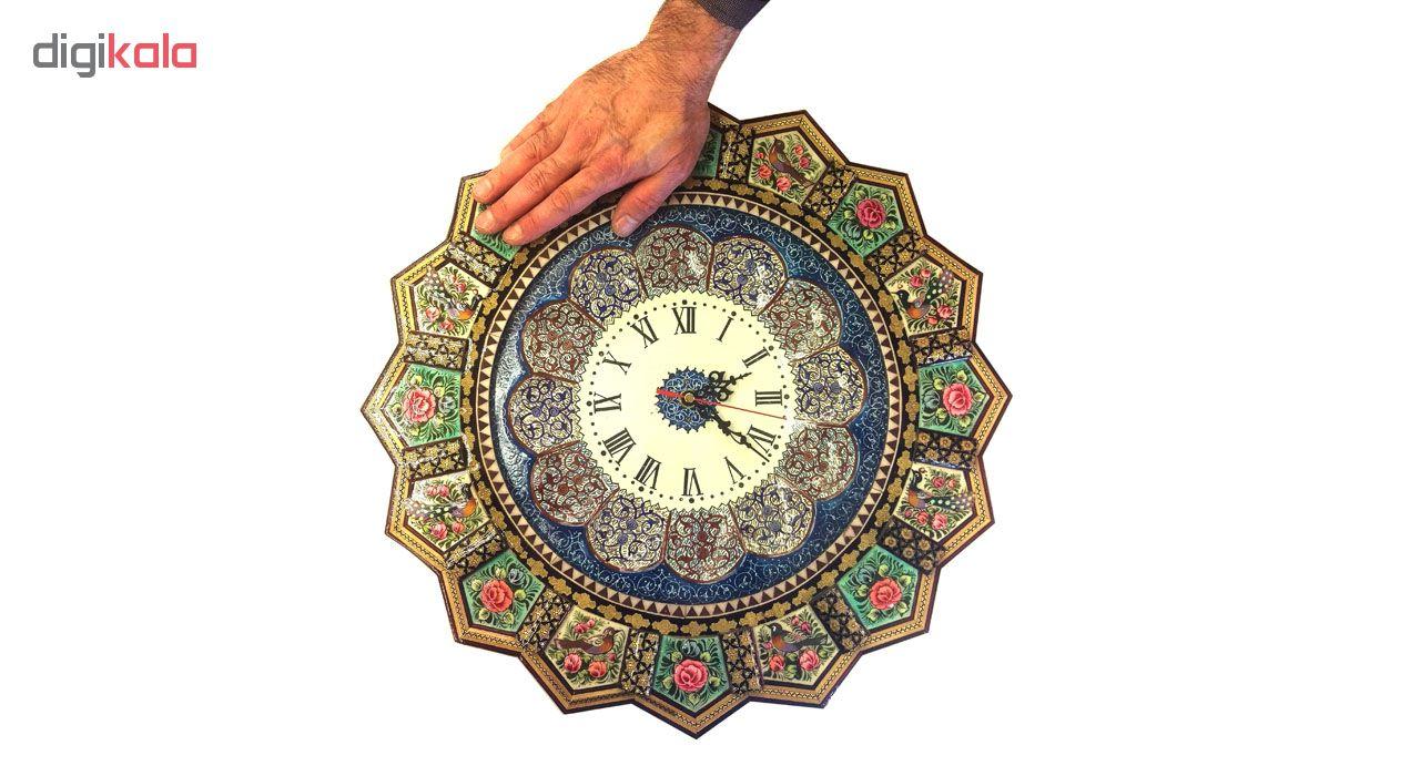 خرید                      ساعت خورشیدی خاتم لوح هنر طرح گل و پرنده کد 1093