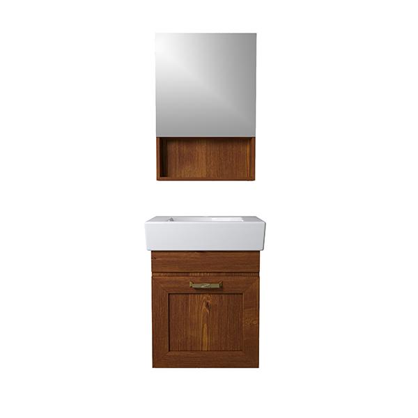 ست کابینت و روشویی مدل پروانه کد 897 به همراه آینه