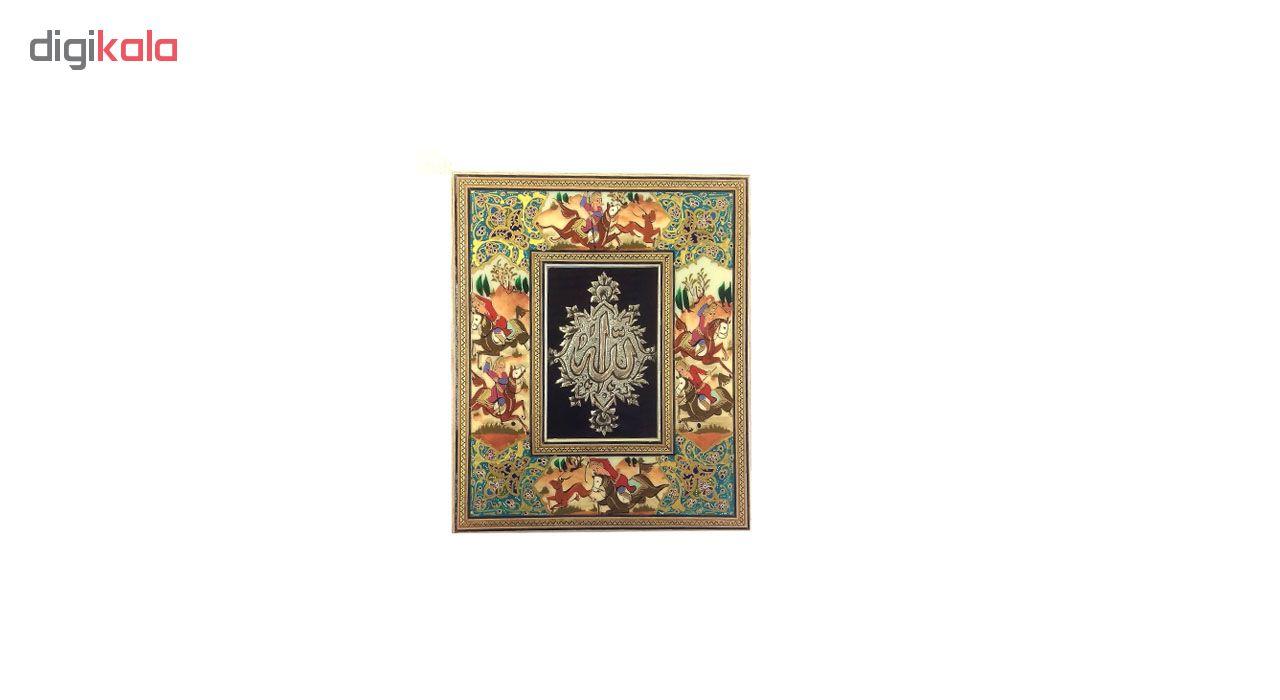 خرید                      قاب خاتم الله لوح هنر طرح چوگان کد 1095