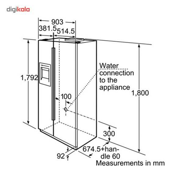 یخچال و فریزر بوش مدل KAN58A70NE  Bosch KAN58A70NE Refrigerator