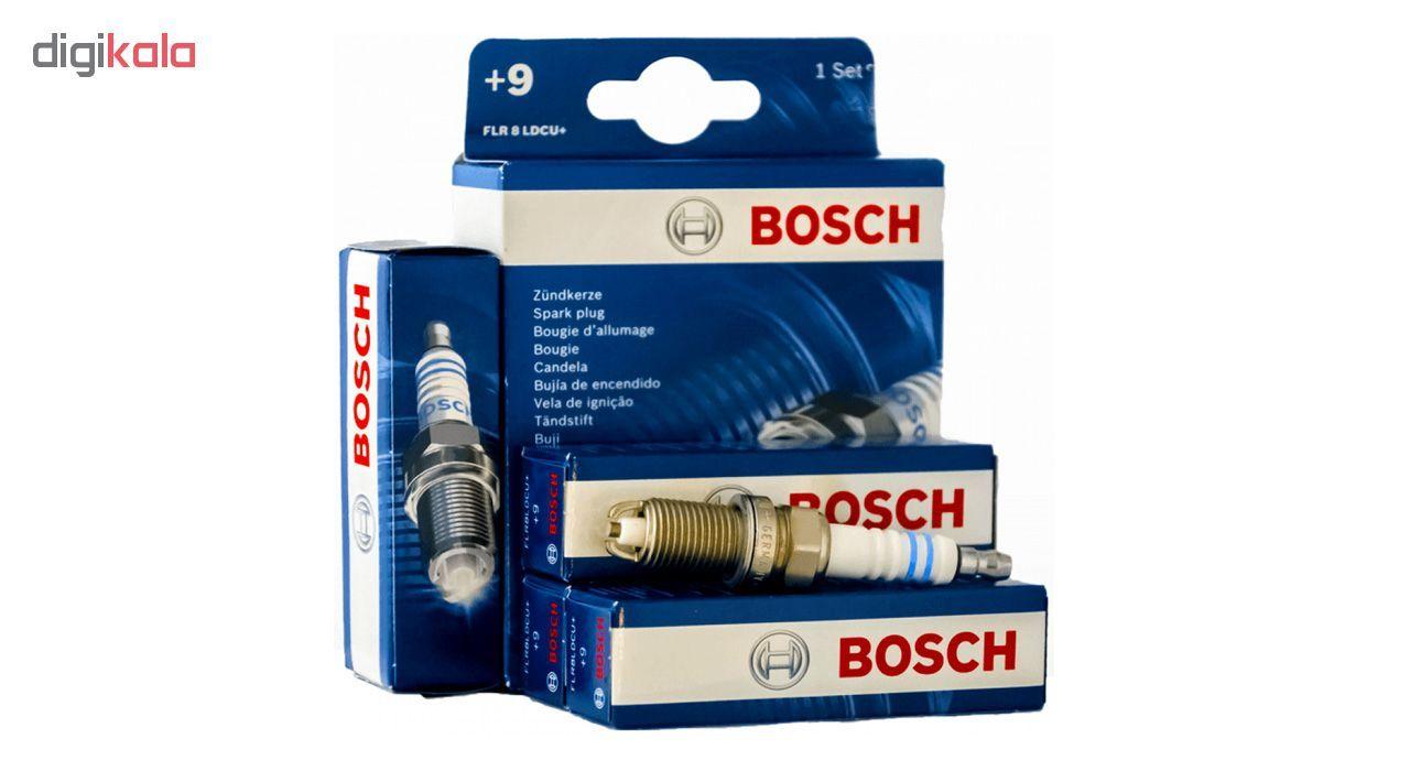 شمع خودرو بوش دو پلاتین پایه کوتاه مدل FLR8LDCU+9 بسته 4 عددی main 1 2