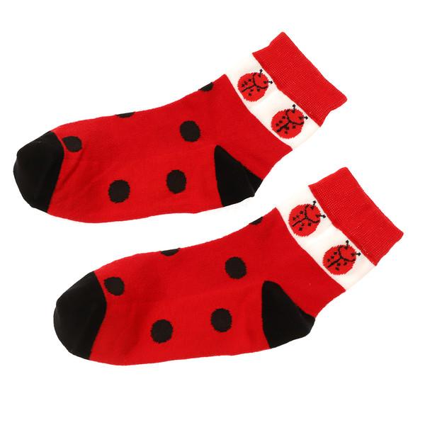 جوراب زنانه مدل Ladybug