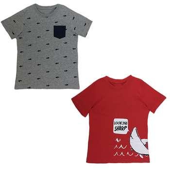 تی شرت پسرانه لوپیلو مدل 308004 مجموعه 2 عددی