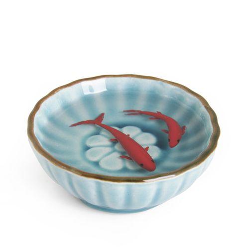 ماهی قرمز سفالی سه بعدی مدل فیروزه