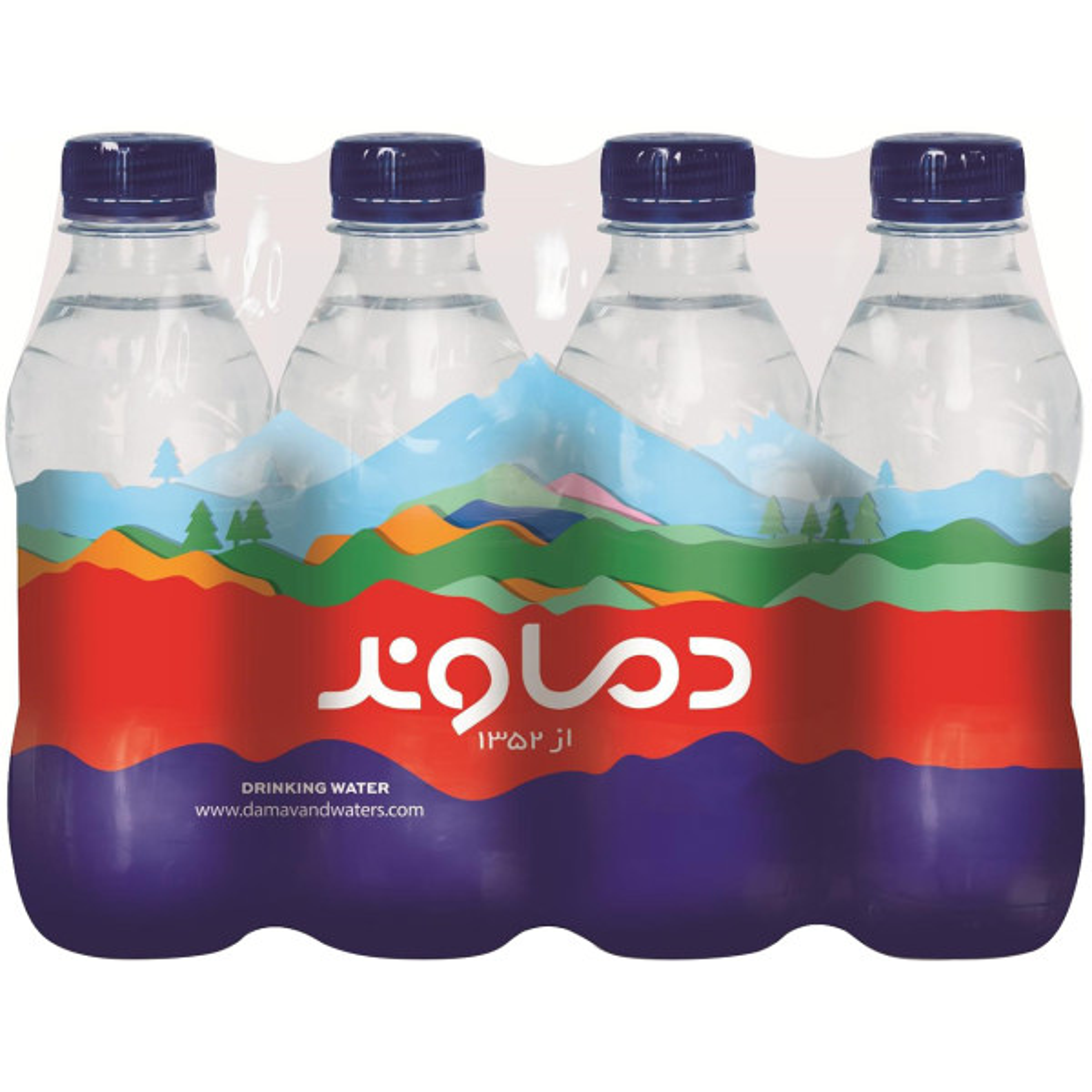 آب آشامیدنی دماوند حجم 296 میلی لیتر بسته 12 عددی