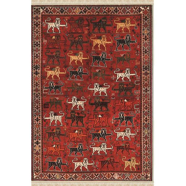 فرش ماشینی فرش ابریشمی کرامتیان طرح آرتینه کد 5949