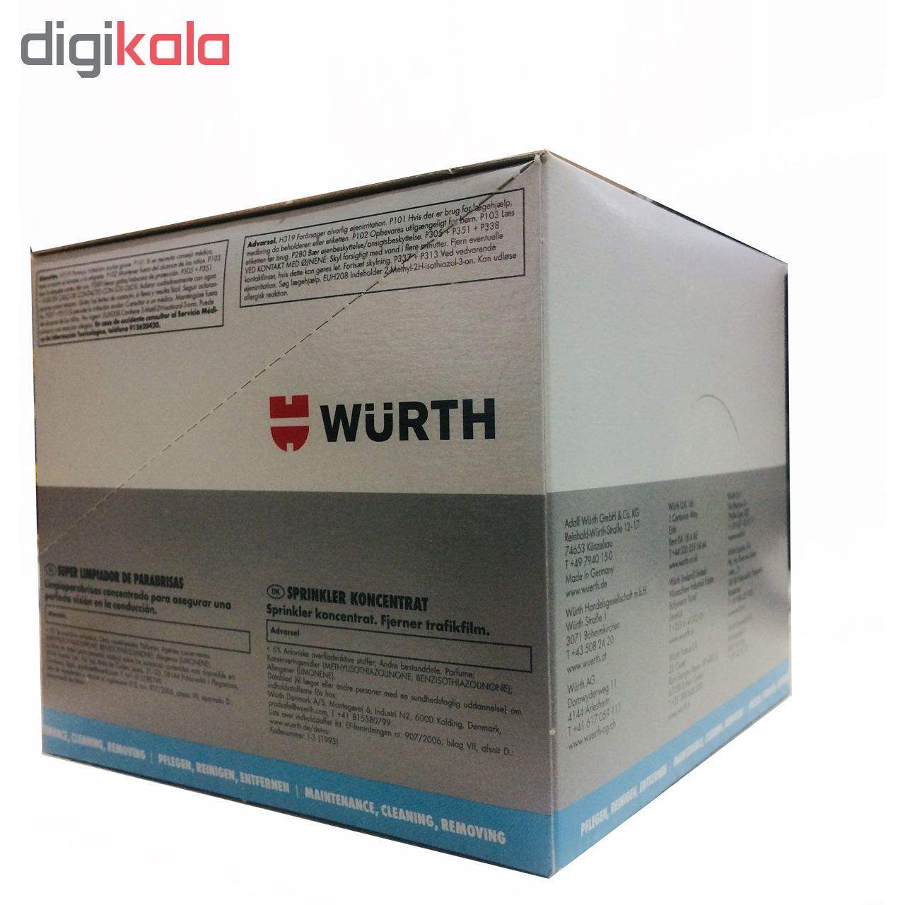 محلول شیشه شوی خودرو وورث مدل 892333 حجم 32 میلی لیتر بسته 5 عددی main 1 3