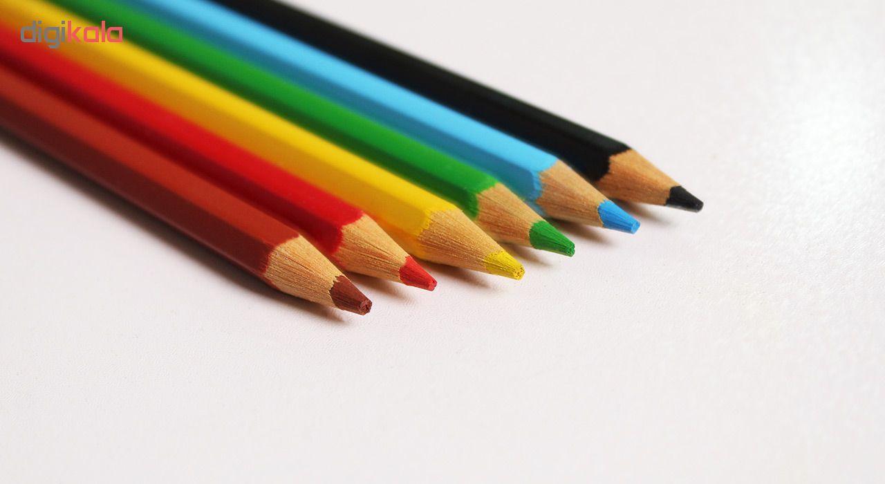 مداد رنگی 6 رنگ آسیا مدل ISMR-00014 main 1 1