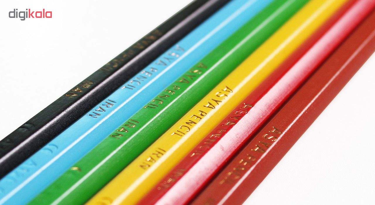 مداد رنگی 6 رنگ آسیا مدل ISMR-00014 main 1 4