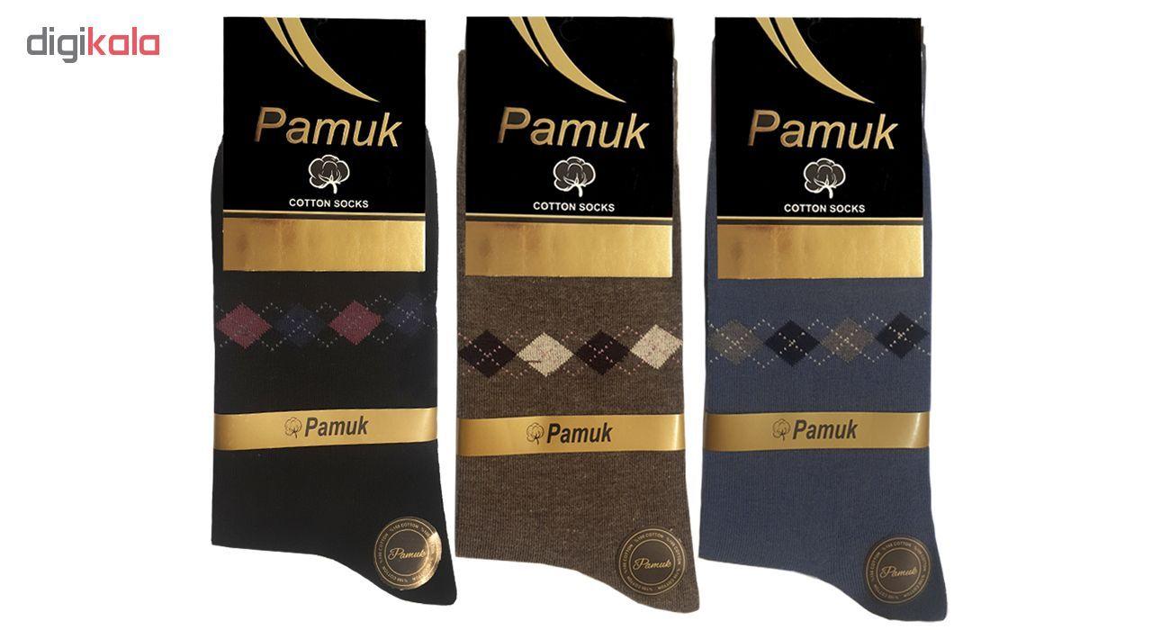 جوراب مردانه پاموک مدل 103.3 بسته ۳ عددی main 1 1