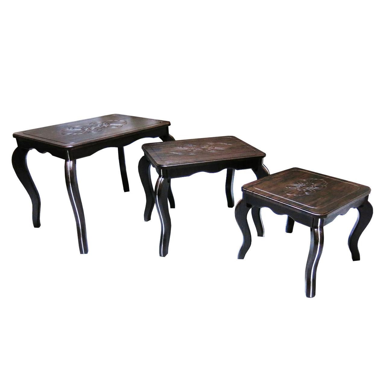 میز عسلی مدل ونیز مجموعه 3 عددی