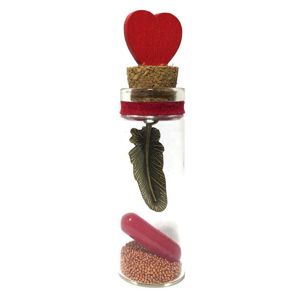 بطری دکوری طرح کپسول عشق مدل Bottle Love18