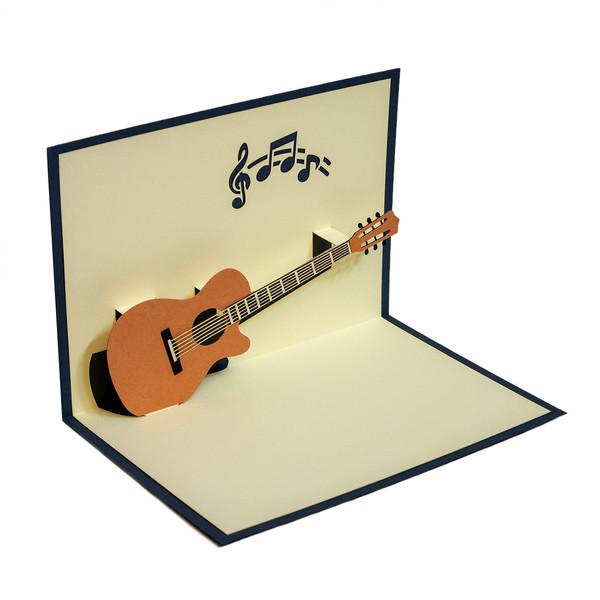 کارت پستال ارژنگ طرح گیتار کد CR012d