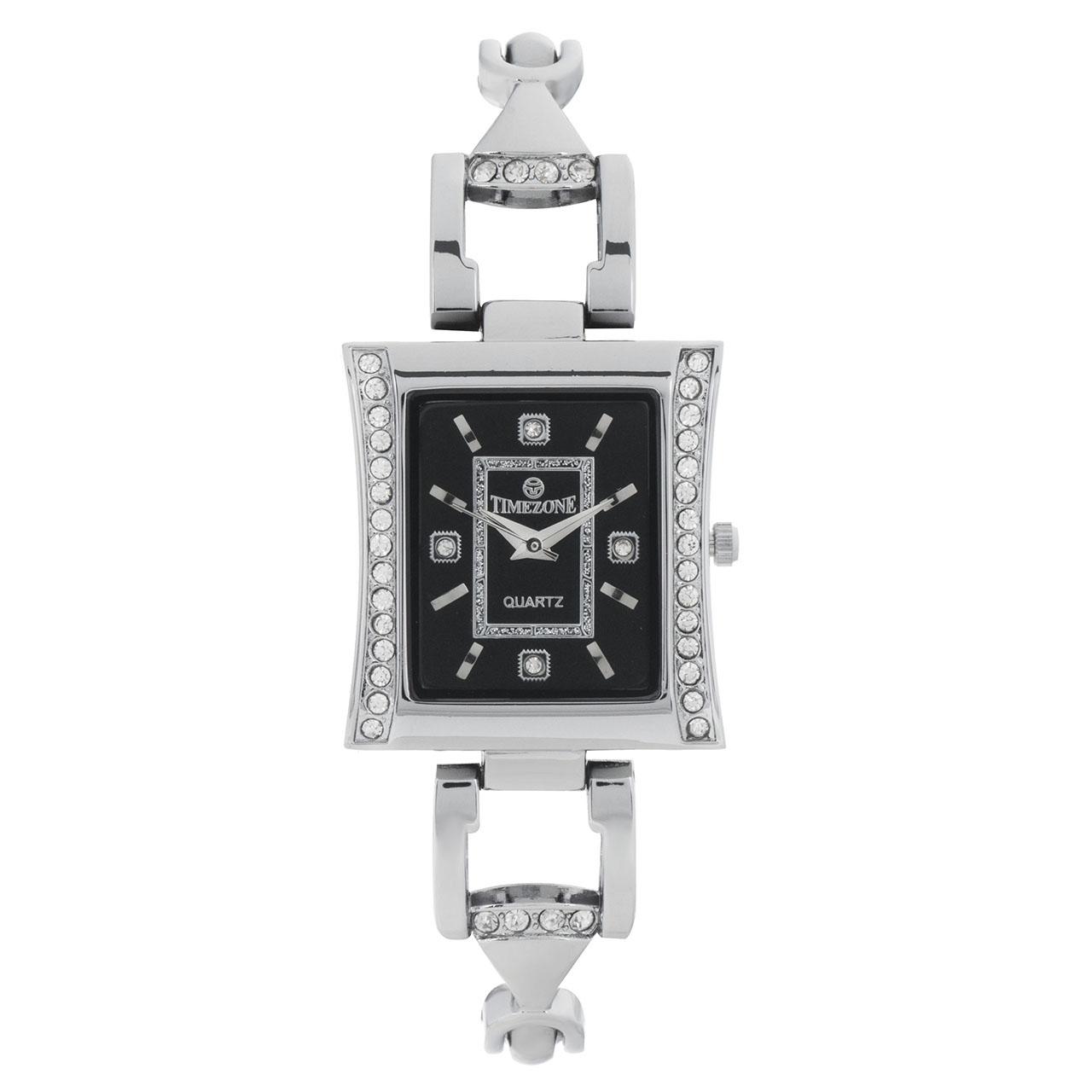 خرید ساعت مچی عقربه ای زنانه تایم زون مدل Time silver