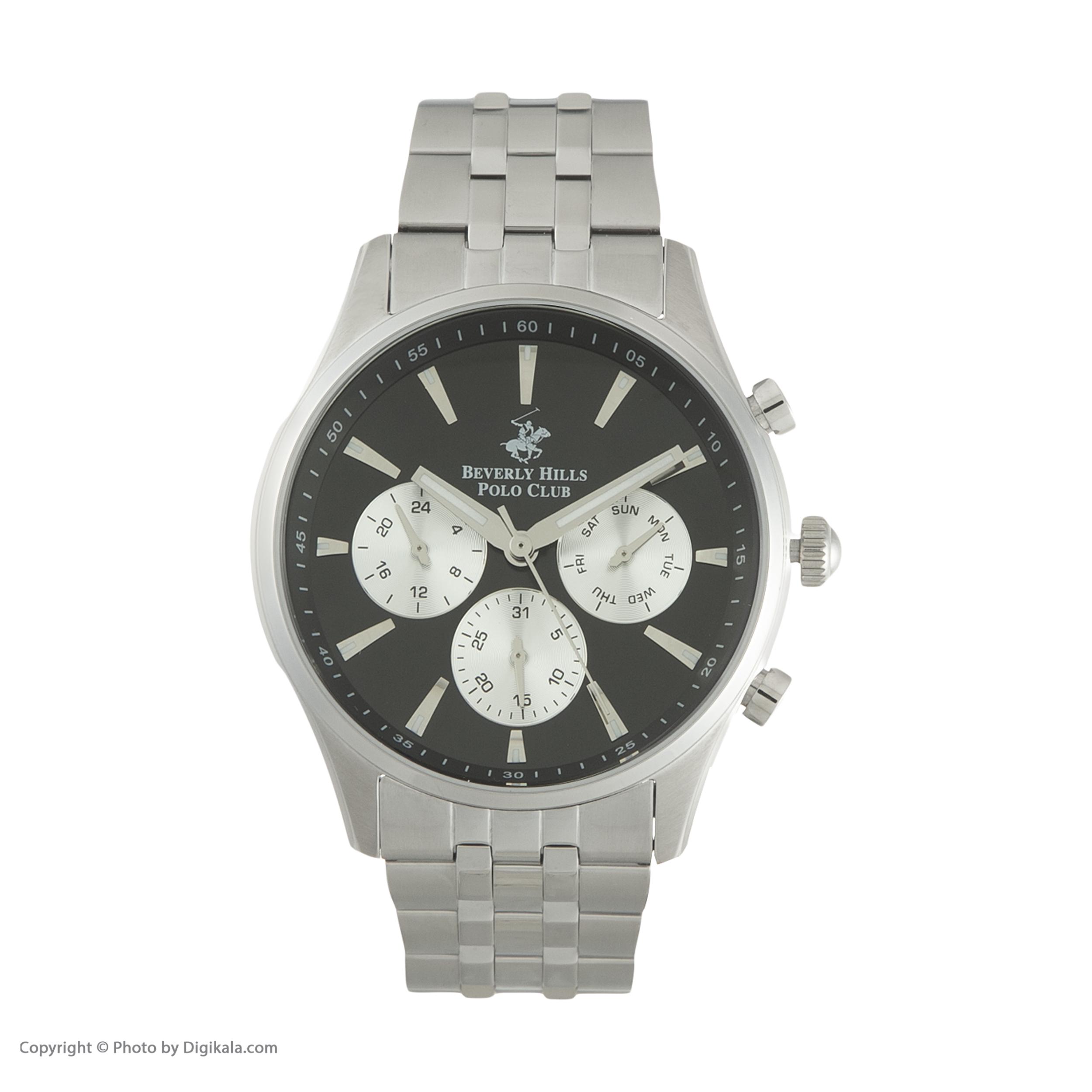 ساعت مچی عقربهای مردانه بورلی هیلز پولو کلاب مدل BP3009X.350