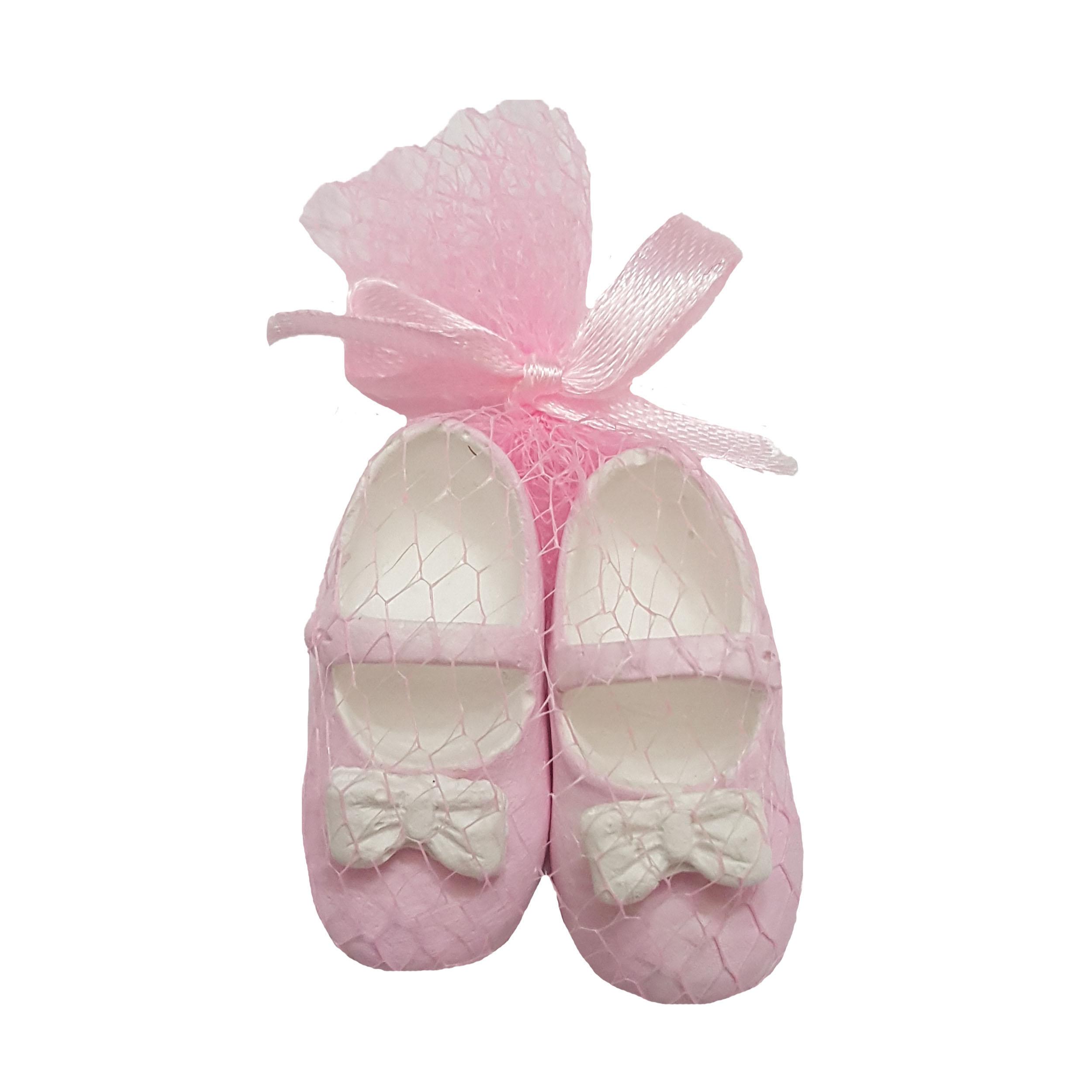 گیفت تولد و سیسمونی کودک طرح کفش دختر بسته 10 عددی