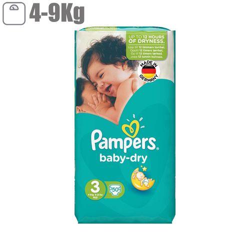 پوشک پمپرز مدل Baby Dry سایز 3 بسته 50 عددی
