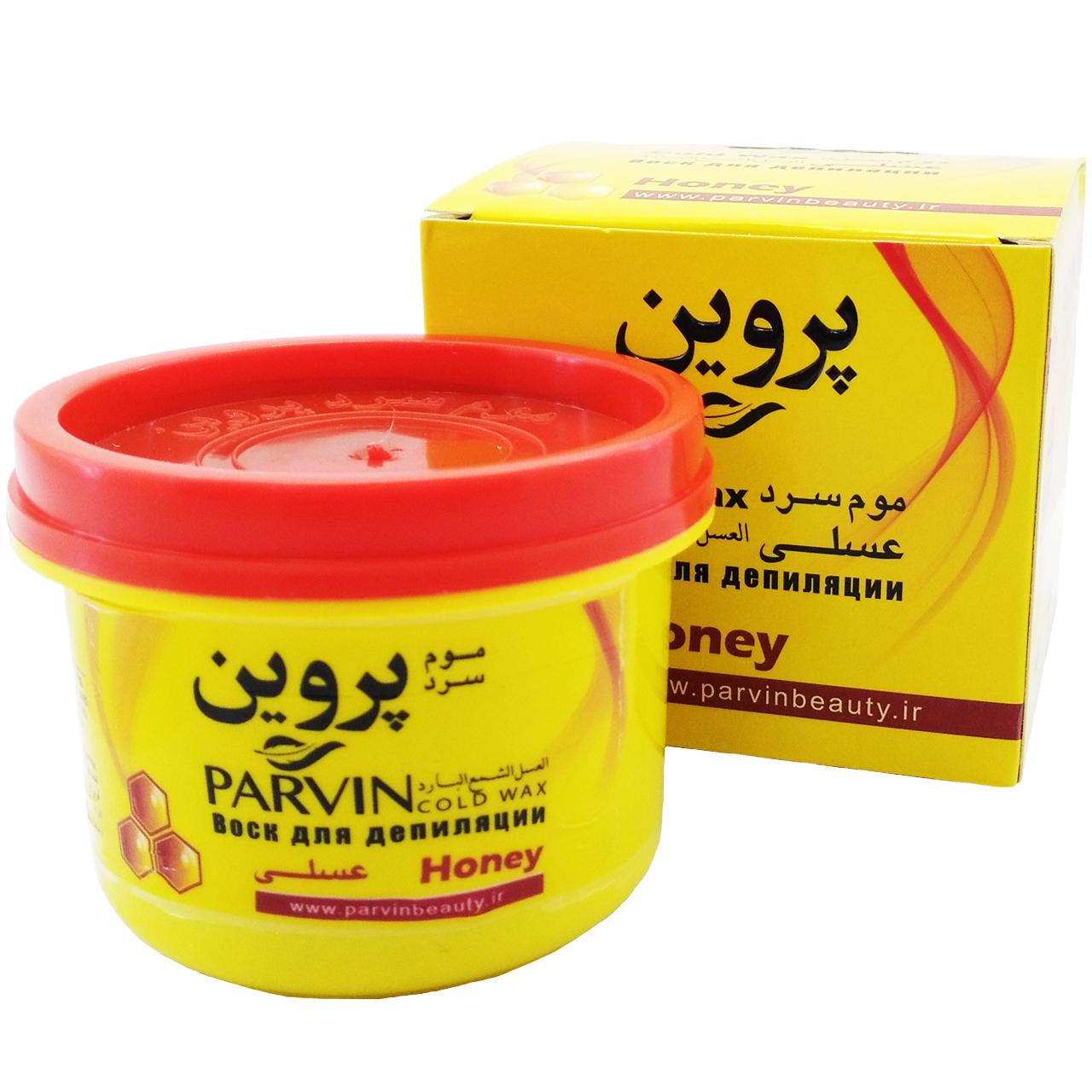 موم سرد پروین مدل Honey حجم ۳۰۰ گرم