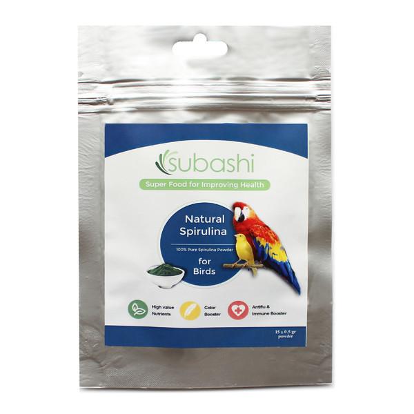 مکمل غذایی پرندگان سوباشی مدل Natural Spirulina  وزن 15 گرم