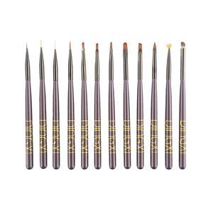 قلم موی طراحی ناخن دینکسی مدل DP-12 بسته 12 عددی