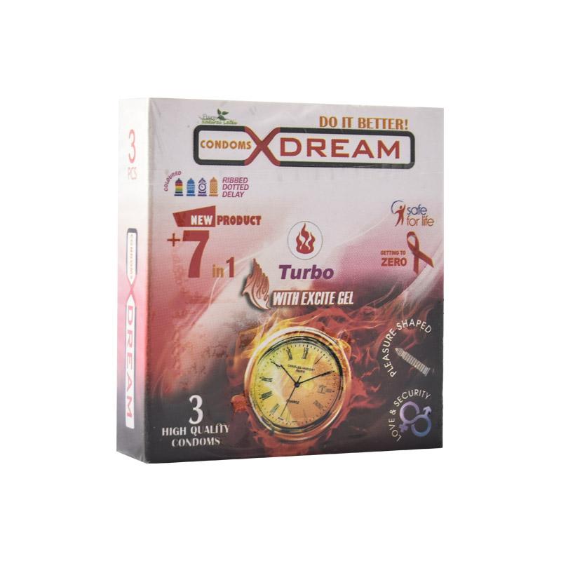 قیمت کاندوم ایکس دریم مدل Turbo بسته 3 عددی