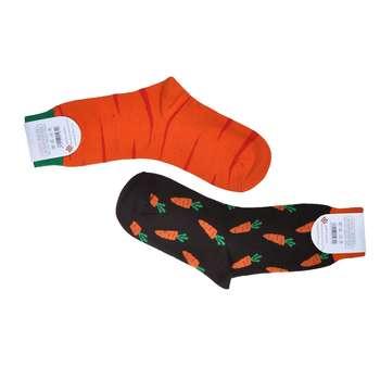 جوراب مردانه طرح هویج کد 21