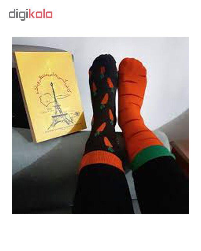 جوراب مردانه طرح هویج کد 21 main 1 1