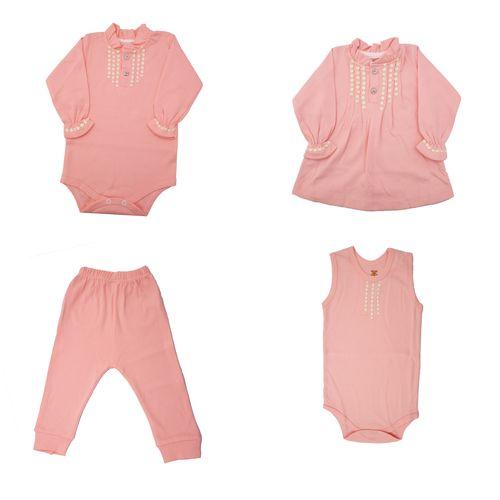 ست 4 تکه لباس نوزادی دخترانه مدل 004