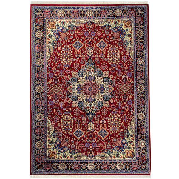 فرش ماشینی سهند کد V105.BU زمینه گلی 700 شانه
