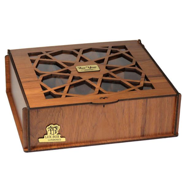 جعبه هدیه دمنوش چایی کیسه ای لوکس باکس کد LB031