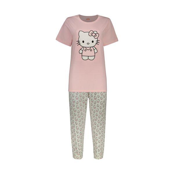ست تی شرت و شلوار زنانه مادر مدل Kitty405-84