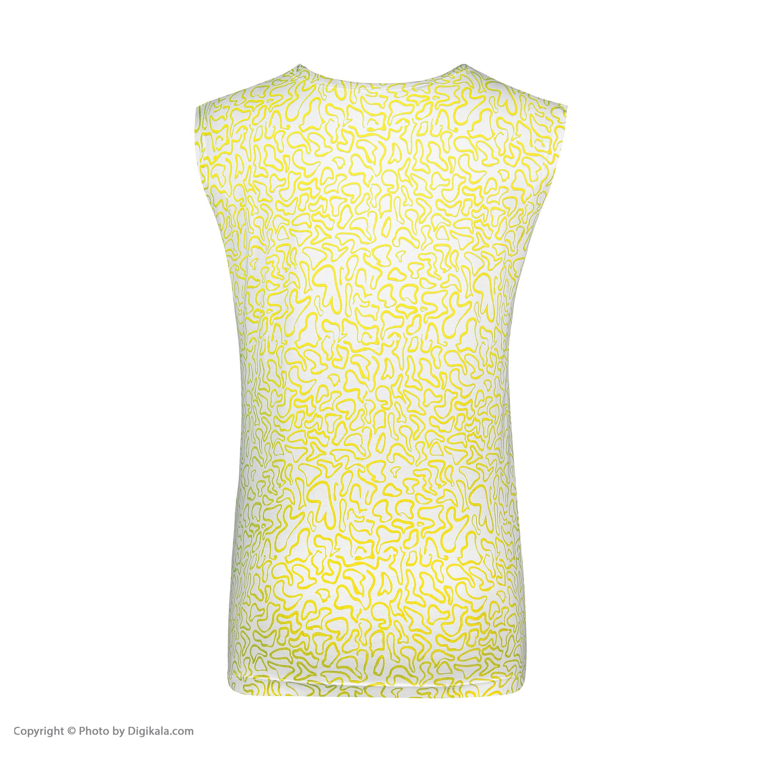 ست تاپ و شلوارک زنانه طرح بیوتی کد 0227 رنگ زرد -  - 9