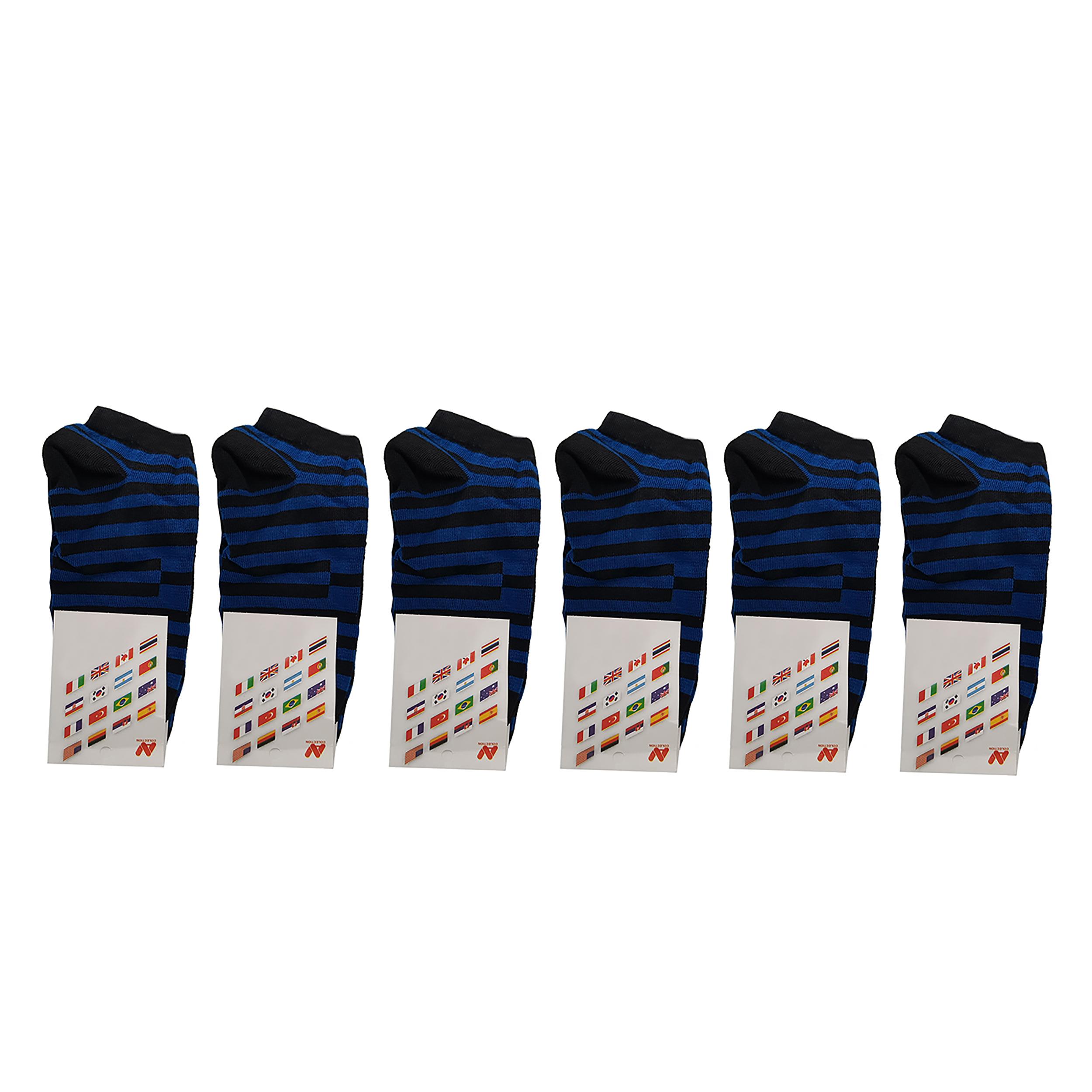 جوراب مدل R1 بسته 6 عددی