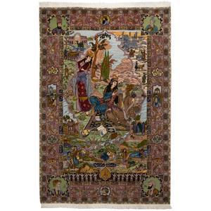 فرش قدیمی دستباف شش متری سی پرشیا کد 187250