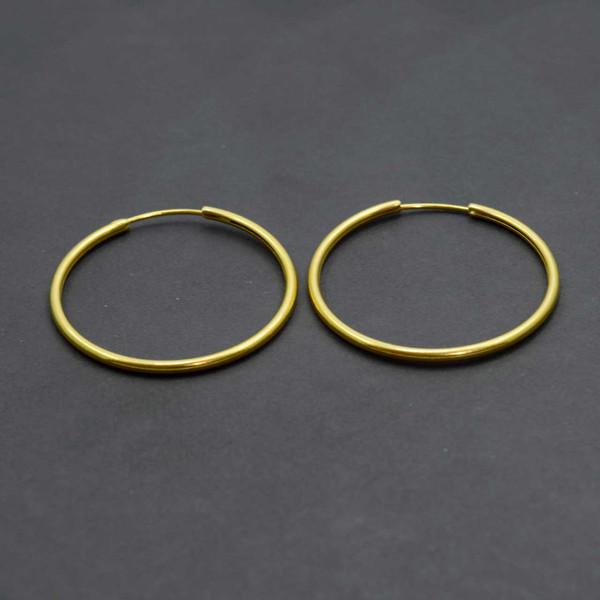 گوشواره طلا 18 عیار زنانه کانیار گالری مدل E18