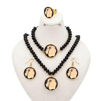 ست طلا 24 عیار زنانه طرح نماد مرداد کد 10005M