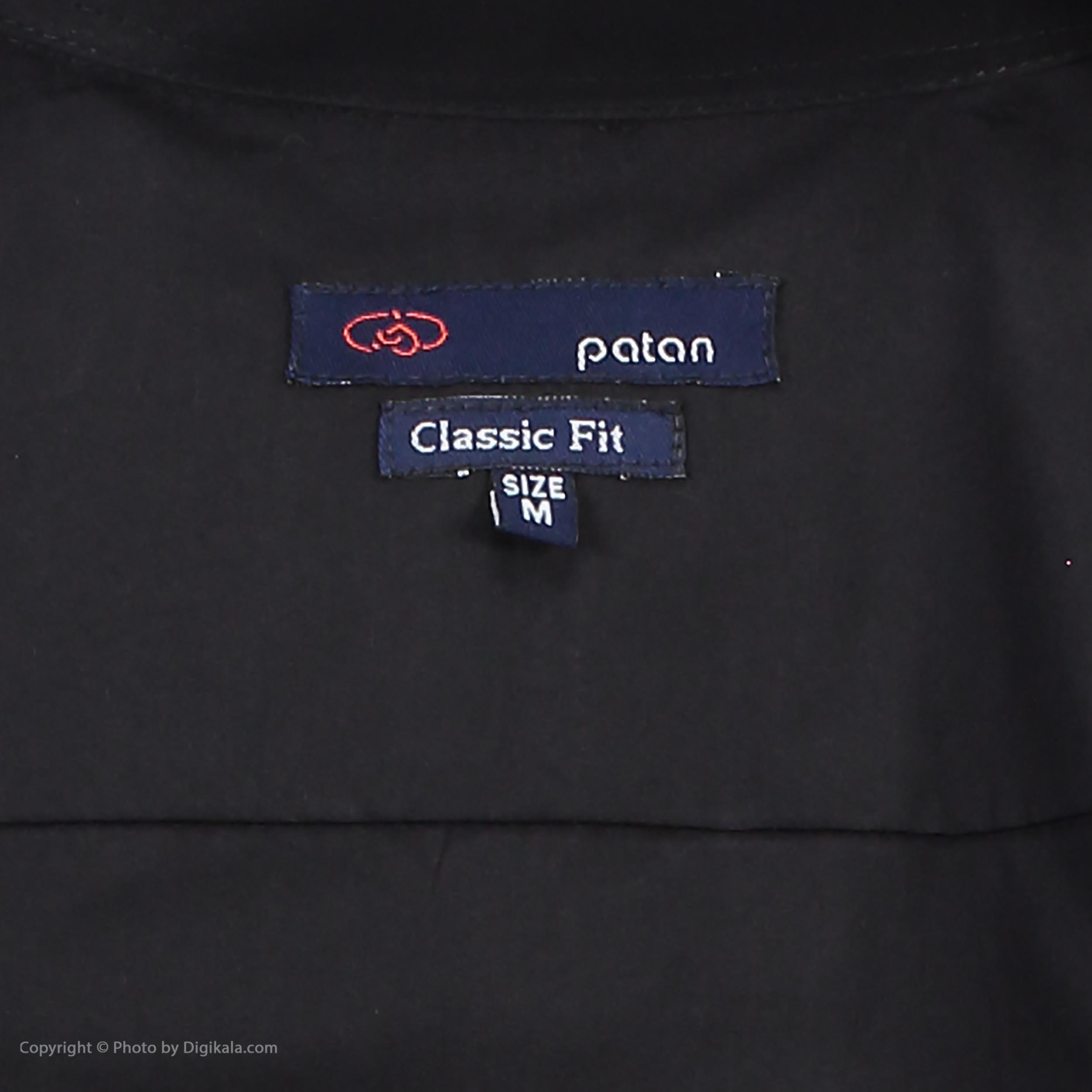 پیراهن مردانه پاتن جامه کد 98MC8528 رنگ مشکی  -  - 5