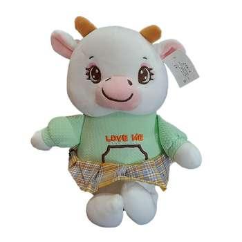 عروسک طرح گاو دختر  کد a1036 ارتفاع 28 سانتی متر