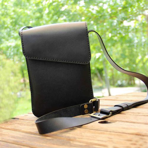 کیف دوشی بلوط لدر مدل B01-bl