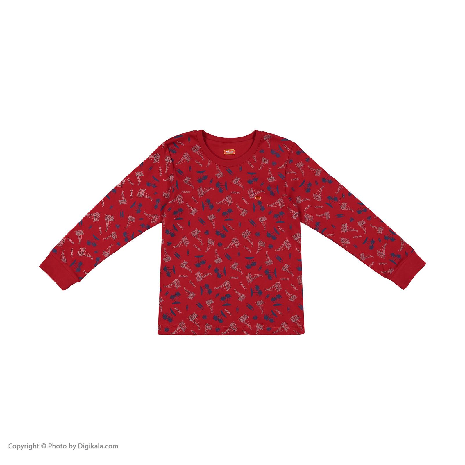 ست تی شرت و شلوار پسرانه مادر مدل 306-72 main 1 2