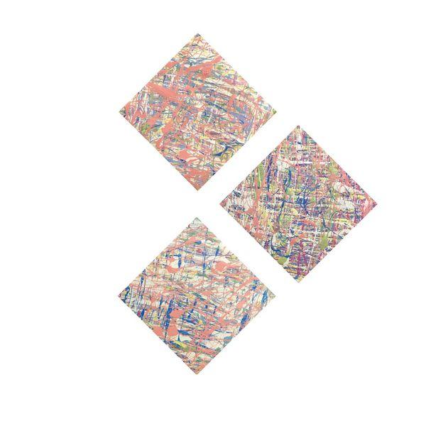 تابلو نقاشی رنگ روغن مدل انتزاعی کد ۱۰2 مجموعه 3 عددی